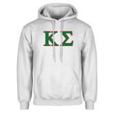 White Fleece Hood-Kappa Sigma - Greek Letters - 2 Color