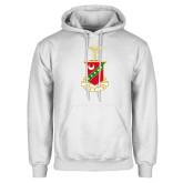 White Fleece Hood-Crest