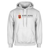 White Fleece Hoodie-Kappa Sigma Fraternity w/ Crest