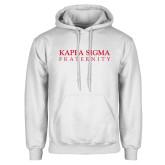 White Fleece Hoodie-Kappa Sigma Fraternity