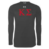 Under Armour Carbon Heather Long Sleeve Tech Tee-Kappa Sigma - Greek Letters - 2 Color