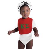 Red Baby Bib-Kappa Sigma - Greek Letters
