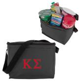 Six Pack Grey Cooler-Kappa Sigma - Greek Letters - 2 Color