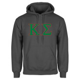 Charcoal Fleece Hoodie-Kappa Sigma - Greek Letters - 2 Color