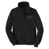 Black Charger Jacket-Kappa Sigma - Greek Letters - 2 Color