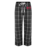 Black/Grey Flannel Pajama Pant-Kappa Sigma - Greek Letters