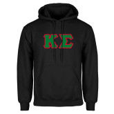 Black Fleece Hoodie-Kappa Sigma - Greek Letters Tackle Twill