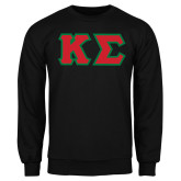 Black Fleece Crew-Kappa Sigma - Greek Letters Tackle Twill