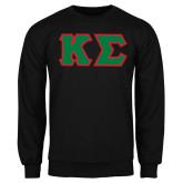 Black Fleece Crew-Kappa Sigma - Greek Letters Tackle Twill