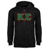 Black Fleece Full Zip Hood-Kappa Sigma - Greek Letters Tackle Twill