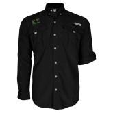 Columbia Bahama II Black Long Sleeve Shirt-Kappa Sigma - Greek Letters - 2 Color
