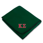 Dark Green Arctic Fleece Blanket-Kappa Sigma - Greek Letters - 2 Color