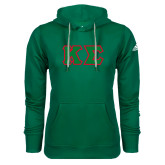 Adidas Climawarm Dark Green Team Issue Hoodie-Kappa Sigma - Greek Letters Tackle Twill
