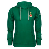 Adidas Climawarm Dark Green Team Issue Hoodie-Crest