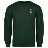 Dark Green Fleece Crew-Crest