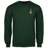 Dark Green Fleece Crew-Crest