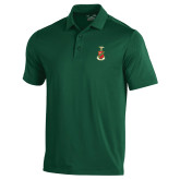 Under Armour Dark Green Performance Polo-Crest