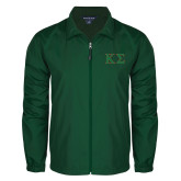 Full Zip Dark Green Wind Jacket-Kappa Sigma - Greek Letters - 2 Color