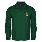 Full Zip Dark Green Wind Jacket-Crest
