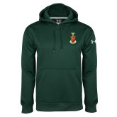 Under Armour Dark Green Performance Sweats Team Hoodie-Crest