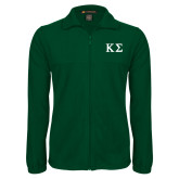Fleece Full Zip Dark Green Jacket-Kappa Sigma - Greek Letters