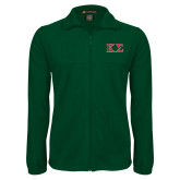 Fleece Full Zip Dark Green Jacket-Kappa Sigma - Greek Letters - 2 Color