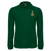 Fleece Full Zip Dark Green Jacket-Crest