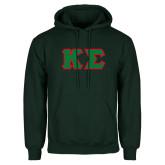 Dark Green Fleece Hood-Kappa Sigma - Greek Letters Tackle Twill