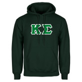 Dark Green Fleece Hood-Kappa Sigma - Greek Letters Tackle Twill