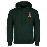 Dark Green Fleece Hood-Crest
