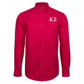 Red House Red Long Sleeve Shirt-Kappa Sigma - Greek Letters