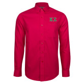 Red House Red Long Sleeve Shirt-Kappa Sigma - Greek Letters - 2 Color