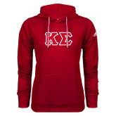Adidas Climawarm Red Team Issue Hoodie-Kappa Sigma - Greek Letters Tackle Twill