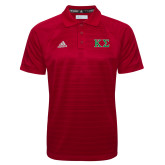 Adidas Climalite Red Jaquard Select Polo-Kappa Sigma - Greek Letters - 2 Color