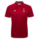 Adidas Climalite Red Jaquard Select Polo-Crest