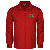 Full Zip Red Wind Jacket-Kappa Sigma - Greek Letters - 2 Color