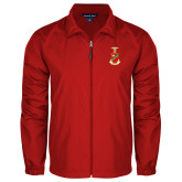 Full Zip Red Wind Jacket-Crest