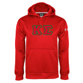 Under Armour Red Performance Sweats Team Hoodie-Kappa Sigma - Greek Letters Tackle Twill