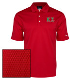 Nike Dri Fit Red Pebble Texture Sport Shirt-Kappa Sigma - Greek Letters - 2 Color