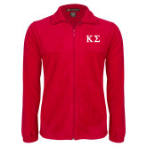 Fleece Full Zip Red Jacket-Kappa Sigma - Greek Letters