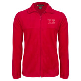 Fleece Full Zip Red Jacket-Kappa Sigma - Greek Letters - 2 Color