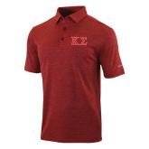 Columbia Red Omni Wick Sunday Golf Polo-Kappa Sigma - Greek Letters - 2 Color