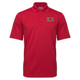 Red Mini Stripe Polo-Kappa Sigma - Greek Letters - 2 Color