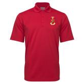 Red Mini Stripe Polo-Crest