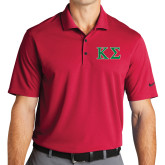 Nike Golf Dri Fit Red Micro Pique Polo-Kappa Sigma - Greek Letters - 2 Color