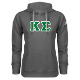Adidas Climawarm Charcoal Team Issue Hoodie-Kappa Sigma - Greek Letters Tackle Twill