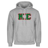 Grey Fleece Hood-Kappa Sigma - Greek Letters Tackle Twill