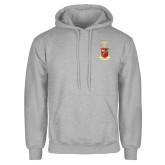 Grey Fleece Hoodie-Crest