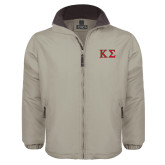 Khaki Survivor Jacket-Kappa Sigma - Greek Letters - 2 Color