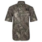 Camo Short Sleeve Performance Fishing Shirt-Kappa Sigma - Greek Letters